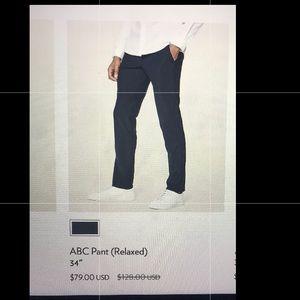 Men's Lululemon ABC Pant size 32, relaxed